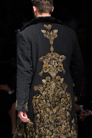 from Dolce & Gabbana Fall 2012 Menswear, at Hello, Tailor.