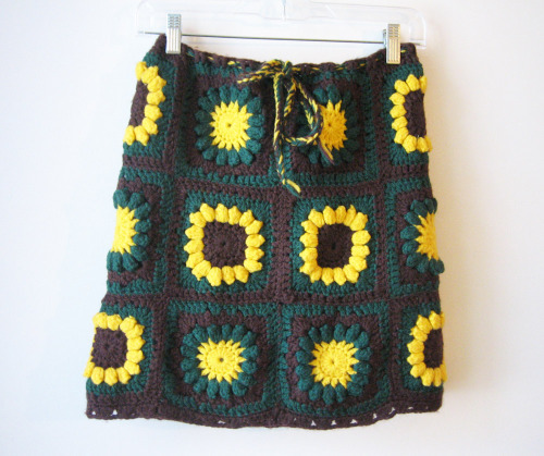 From my Grandma collection:  Sunflower granny square skirt