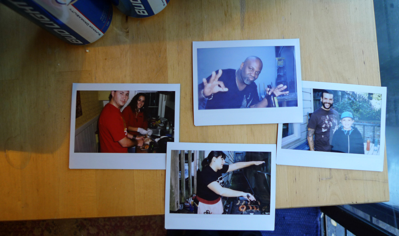 Niners Playoff Party. Fuji Instax photos by Thuggy.