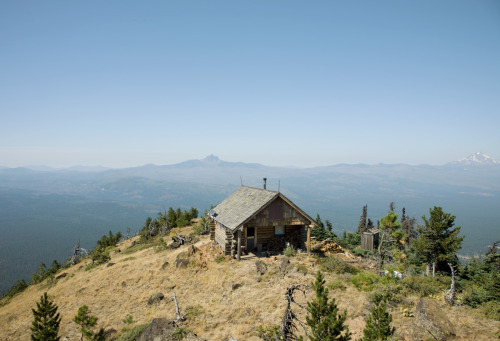 cabinporn:  Reader Submission from Stephen Tamiesie: Cabin on Black Butte, Oregon - 2011 See more of his work here.