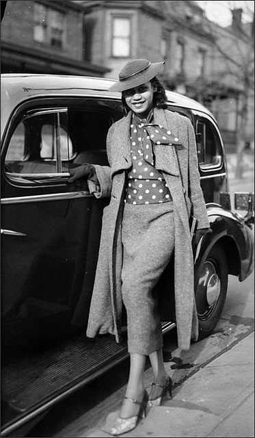 Joy Ride | 1937 on Flickr.An African American woman posed next to car on Mulford Street, Homewood (Pittsburgh, PA), c. 1937 Photo Credit: Teenie Harris Archive, 1920-1970 © Carnegie Museum of Art, Pittsburgh, PA Follow Black History Album on Twitter @blackhistoryalb