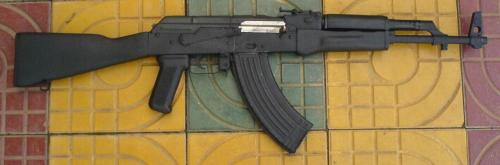 eighteenkaratgold:   Awesome Cambodian AK-47