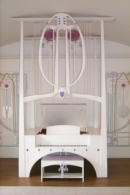 ecemtosun:  Piano in House for an Artlover designed by Mackintosh.It's my fav.