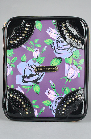 Awww This is so darling. Betsey Johnson Ipad case at Karmaloop http://www.karmaloop.com/product/The-Mixed-Floral-iPad-Case-in-Purple/194638