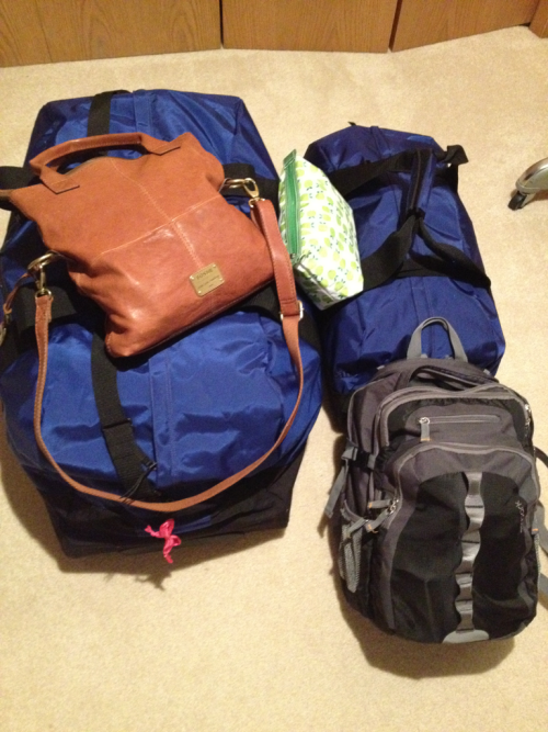 My Life in Suitcases:  I'm heading to the airport today after 48 hours of non stop SAS drama. There is a group of about 26 of us whose passports are being held hostage by Brazil. Although I was supposed to have my passport and visas back last week, I am still empty handed. The new plan is to fly to Fort Lauderdale, Florida (instead of Nassau) and wait with the others for out passports to (hopefully) come on Wednesday. As soon as that happens, we will be able to get on a flight and jump the boarder. It's not ideal, but as long as I am able to board the ship in time it is fine with me. #bahamasbound!