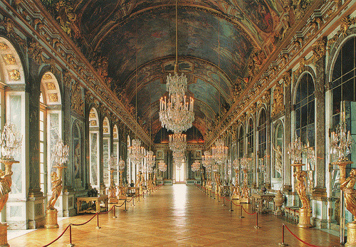 allthingseurope:  The Hall of Mirrors, Versailles (by Gersyko's)