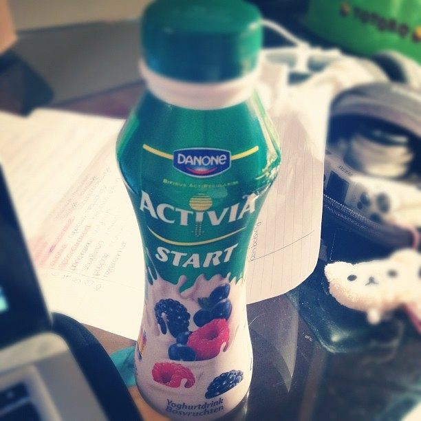 #danone #activia #yoghurtdrink #bosvruchten #start  (Taken with instagram)