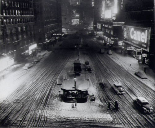 New York's Big Snowstorm Of 1948, Times Square