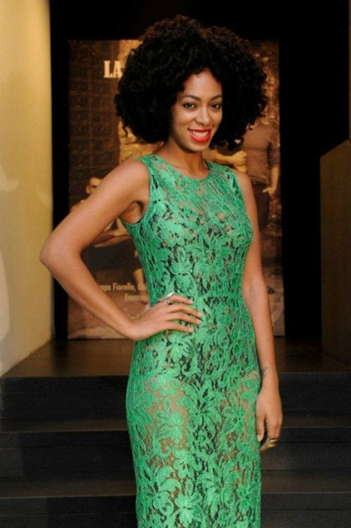 "blackfashion:  Solange at the Dolce & Gabbana ""La Bella Estate"" Cocktail Launch"