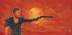 "MAD MAX 12""x24"", acrylic on canvas Prints and original available here: http://www.etsy.com/shop/toddspence"