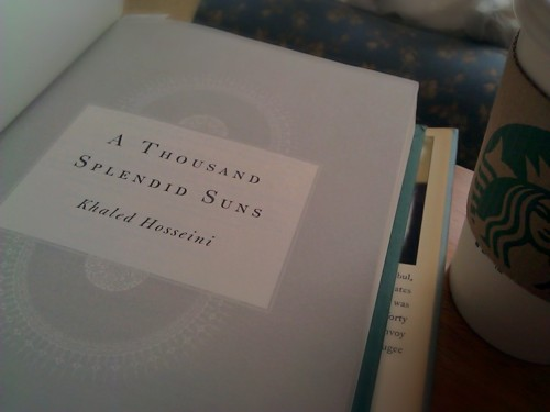 Tea-Sofa-Book Time: Recovering From NYC Edition A Thousand Splendid Suns by Khaled Hosseini