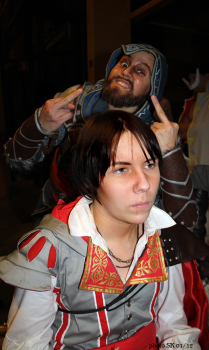 This might be the best photo I got out of Desucon http://krysanteemi.tumblr.com/ as younger Ezio