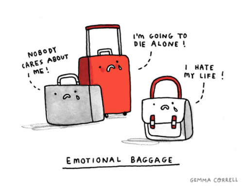 laughingsquid:  Emotional Baggage