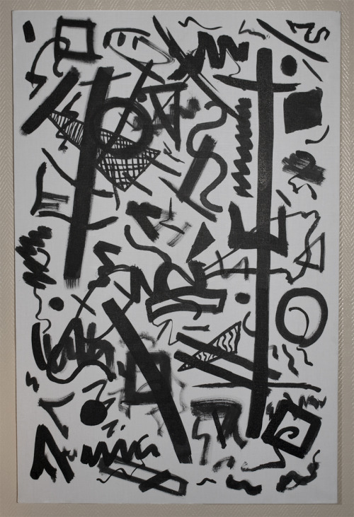 Black Indian ink on canvas.60cm x 92cmIn collaboration with Céline Douguet (www.zapdate.tumblr.com)