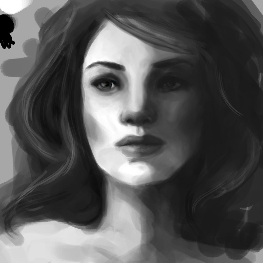 35 minute paint, trying my best not to do important work that's due in about…4 days. Priorities :D
