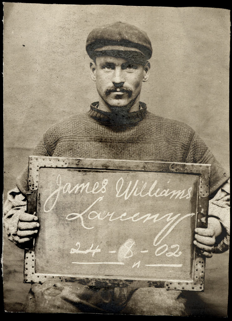 James Williams, arrested for larceny, 1902. (Tyne & Wear Archives & Museum) Submitted by lievbengever