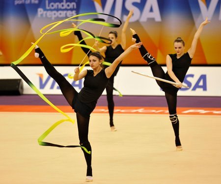 Beginning Monday, rhythmic gymnasts will compete at the Gymnastics Test Event for the final chance to qualify to the London Olympic Games. Click here for more information. Photo: FIG