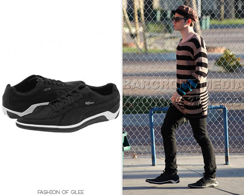 Thanks dontpetthevelociraptors! Alexander McQueen for Puma Scythe Sneakers - No longer available Worn with: Urban Outfitters hat, Marc by Marc Jacobs sweater Also worn in: 1x04 'Preggers', 1x05 'The Rhodes Not Taken', 1x06 'Vitamin D', 1x11 'Hairography'
