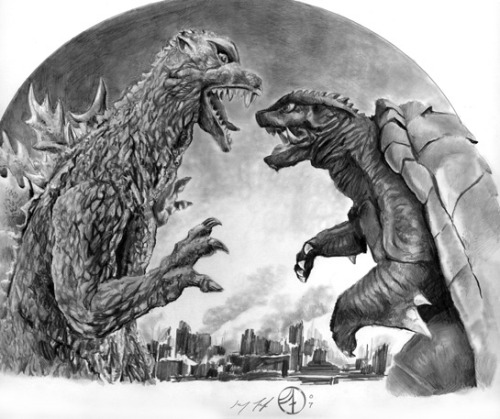 (via Godzilla vs. Gamera, in Jay Fife's Misc Art Comic Art Gallery Room)
