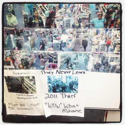 Thief wall at a weave store ha (Taken with instagram)
