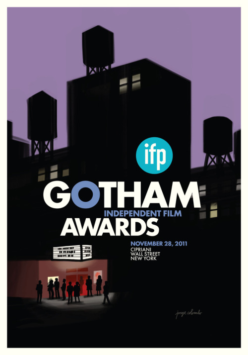 As in 2010, I created the poster/invitation image for the IFP's Gotham Independent Film Awards, designed all the printed materials, and saw some of my film-related illustrations used as animated intros to the competition reels, during the ceremony at Cipriani Wall Street.