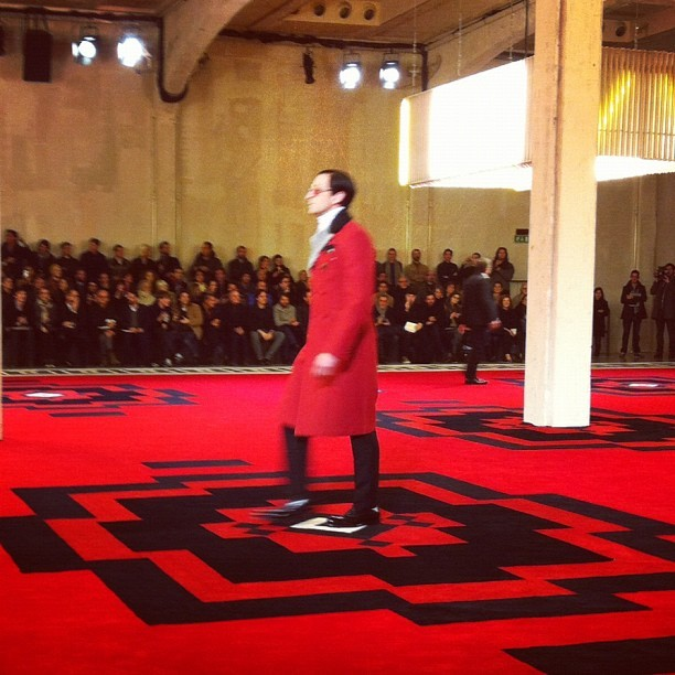 Star power at Prada. Mr Adrian Brody on the catwalk alongside Mr Gary Oldman, Mr Jamie Bell, Mr Tim Roth Mr Willem Dafoe and Mr Emile Hirsch