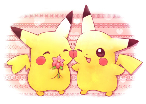 pikamander:    らぶらぶ   Omfg that is so fuckin adorable