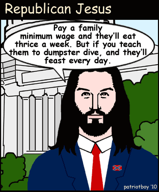 Republican Jesus Talks Poverty….