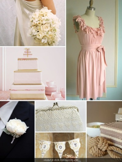 soulweddings:  pink and ivory theme