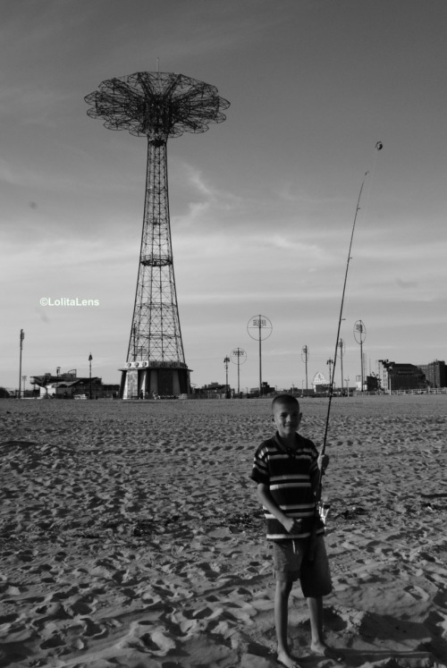 BEACH BOY. Coney Island, Brooklyn NY