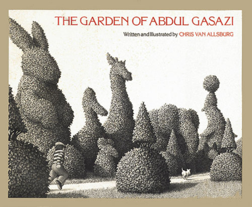 More topiary, from Chris Van Allsburg, author of Jumanji, Polar Express, The Sweetest Fig, and tons more. I think Edward Gorey may have been an inspiration, no?