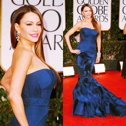 conanofallon:  Sofia Vergara arrives at the 69th Annual Golden Globe Awards