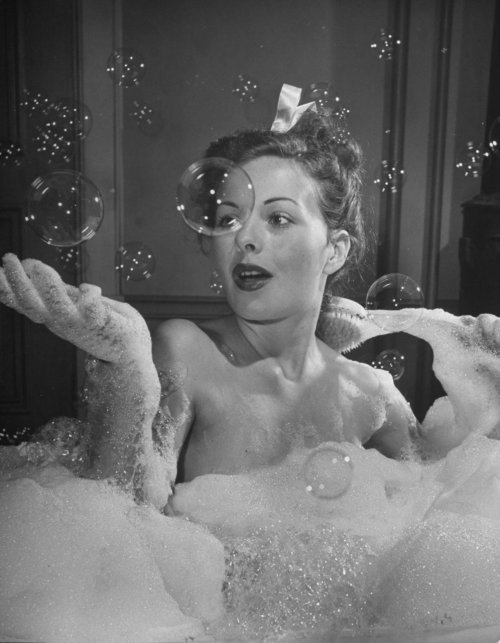 the world always needs more bubbles. vintagesonia:  Jeanne Crain for LIFE Magazine, 1946