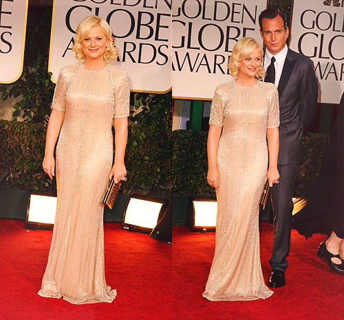 Amy Poehler and Will Arnett at the 69th Annual Golden Globe Awards on January 15, 2012.