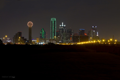 Dallas Skyline - On a cold clear night. bhyates
