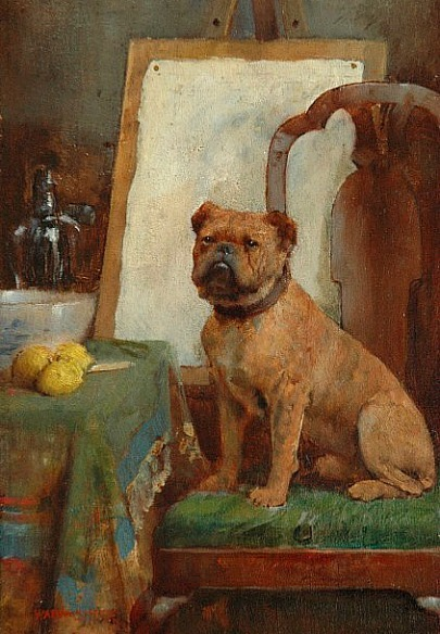 stilllifequickheart:   William Arthur Breakspeare The Painter's Dog Late 19th century