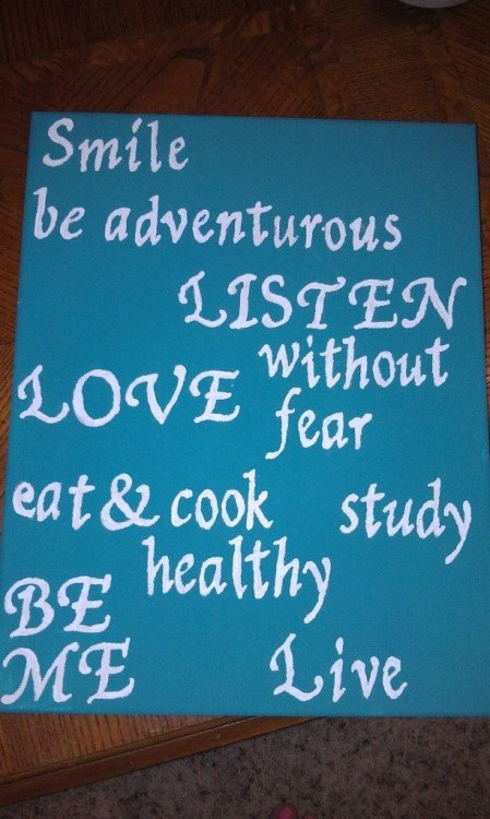 Pinterest 1st Canvas Creation - New Years Resolutions 2012