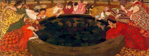 flyingodiva: 1911 Ernest Bieler (Swiss, 1863-1948) ~ L'eau mystérieuse [The Mysterious Water]