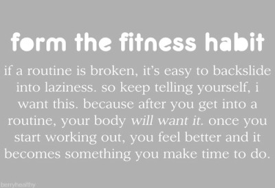 "A trainer once told me, ""It takes two weeks to make a habit!"" so go to the gym for two weeks!! You will see how easy it becomes to go after that!"