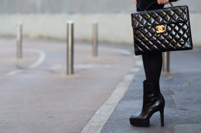 Chanel Vernis Bag, Theory Ankle Boots