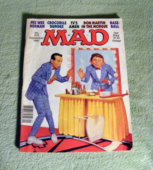 Pee-wee Herman MAD Magazine 1987 Pee wee's Playhouse. Available HERE.