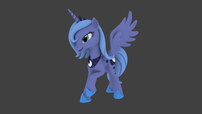 cheerilicious:  Princess Luna Pose, ported to Blender.