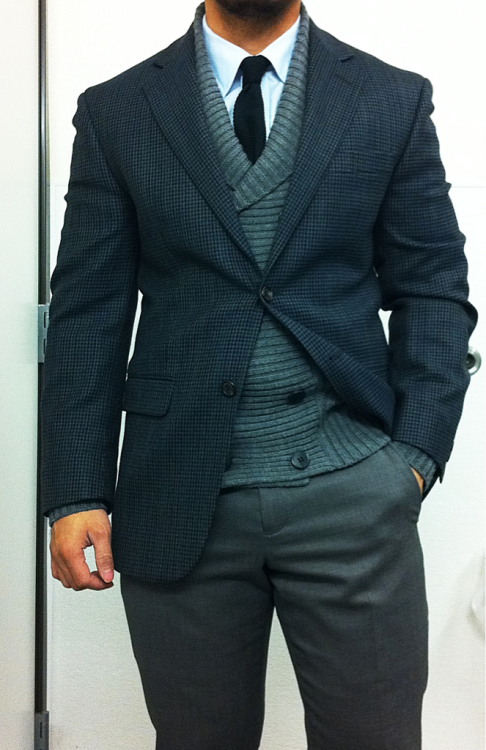 thetieguy:  i love this cardigan and how it works with this look.