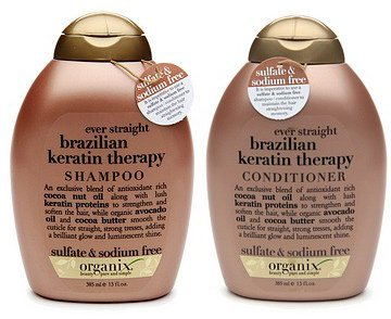 Review: Organix Brazilian Keratin Therapy Shampoo & Conditioner  Price: $6-8 each at drugstores I'm not gonna go into the pros and cons of this duo. Instead I'll just go right ahead and tell you my honest opinions and experience with it. First I wanna say that I used this duo for about a two months or so. I didn't use up all of both bottles because of, well, you'll see why in this review.. But these are my final thoughts on the duo. Also note that I have thin-thick hair and my hair does get quite greasy within two days of not washing it.  This product is a gimmick. I have to admit, within probably the first few weeks of using it (keep in mind I wash my hair every other day) I had seen positive results in my hair. I saw that my hair was less greasy than usual, and it significantly felt stronger than before. It also made my hair shiny which is a first because I haven't had that effect after using any other shampoo and conditioner duo in the past. As I continued to use the products, probably a month to a month and a half into it,  I noticed that my hair started feeling really dried out and almost crispy. I also started to experience a lot of fall out when washing my hair.. and since I know that hair is in its weakest state when it's wet, I knew that it had to be the products that I was using that was causing this to happen. I started to have a TON of fall out.. a lot more than I usually do.  The consistency/texture of the shampoo isn't at all like your normal shampoo. It's like a non-creamy gel.. I don't know how to explain it lol. It feels like jello basically and it makes it hard to spread throughout your hair. You can just tell it doesn't have that hydrating factor that most shampoos have. I suppose the reason for that is because it's sulfate & sodium free, which I can understand. It produces a thin lather but my hair doesn't feel nice after rinsing it out. It felt very stripped of its natural oils. The conditioner doesn't do much justice even in cooperation with the shampoo. Its texture lacks the thickness that most conditioners usually have. It's more of a cream. Not what I expect out of a conditioner at all. It's easy to comb through my hair, but after about 3-5 minutes of leaving it in then washing it out of your hair, my hair didn't feel much different. It felt as if it barely added any hydration to my hair. The only thing I absolutely love about this product is the scent. It leaves a nice warm, coconut-vanilla type of scent in your hair. I used up a lot of the conditioner just for the smell lol…  I don't recommend this duo based on my experience with it. I'm now back to using my L'Oreal EverStrong Hydrate Shampoo & Conditioner (which btw I stopped using just to try out this product -__-) which is 10 times better and my favorite shampoo and conditioner to date.