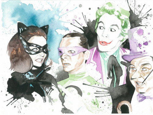 assorted-goodness:  Villain Watercolour - by Jonathan Reincke Flickr || Etsy