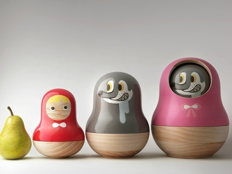 (via Red Riding Hood Matryoshka Doll Food Containers by Mike He)