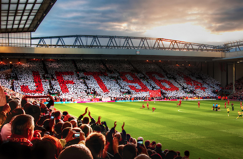 Justice for the 96   This mosaic was presented by the Kop end in Anfield prior to the Liverpool FC V Norwich City Premier League game on 22nd October 2011, commemorating those who died in the Hillsborough disaster. This was a tragic event that took place on April 15, 1989 where 96 Liverpool FC fans were crushed to death.
