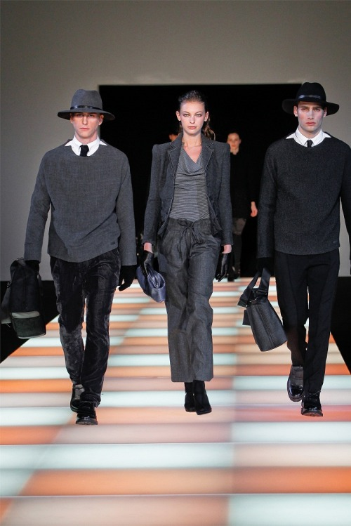 fuckyeahvintagediary:    Emporio Armani FW 2012 , Men's Fashion Week