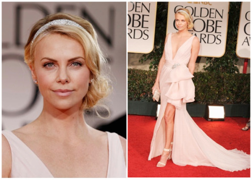 The fashion at the Golden Globes this year was pretty tame. No major stand outs, but nothing too offensive. The popular colors this year were nude and blush tones. There were also random bursts of emerald/greens and sequins (Evan Rachel Wood, Laura Dern, Kelly MacDonald). My favorite look of the night was Charlize Theron in Dior. Simple, elegant and classic. She is so naturally beautiful and I love it.