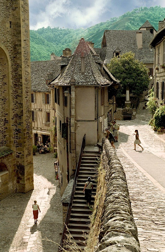 highwayhellinheels:   | ♕ |  Village of Conques - Midi-Pyrenees, France by © Howard Somerville | via ysvoice  there is something so magical about this place…